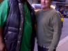 Patrice with Colin Quinn. This was the last picture ever taken of Patrice, just prior to his stroke in October 2011.