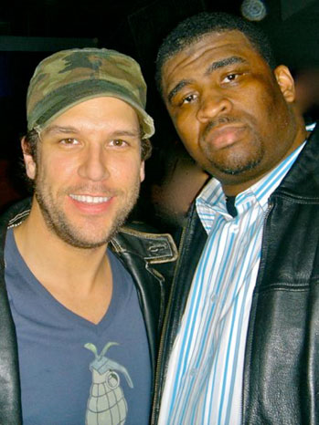 Patrice with Dane Cook