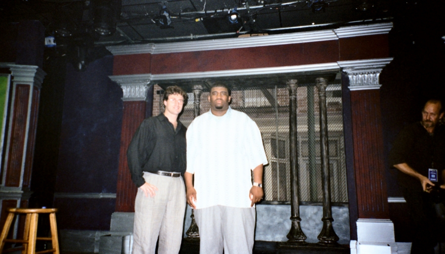 Patrice with Jason Steinberg at his  Showtime Special Taping