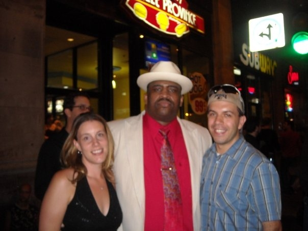 Here I am with my wife (finacee at the time) Dave and Amy Allston, with Patrice in Montreal in July of 2008. It was the night we got engaged, just before the Patrice show at Just For Laughts (I am a huge fan, we had already gone down to NYC to see him in 2007).